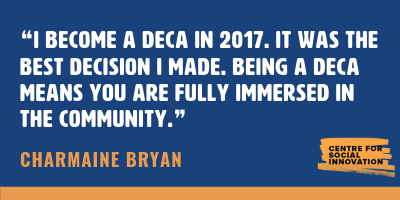 Charmaine Bryan's quote about the DECA program