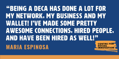 Quote from Maria Espinosa about the DECA program